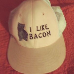 I love bacon hat SZ 1size $15 + free gift